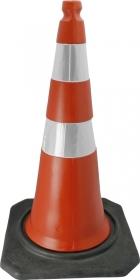 Cone Sinalização 75cm Refletivo Base 4kg