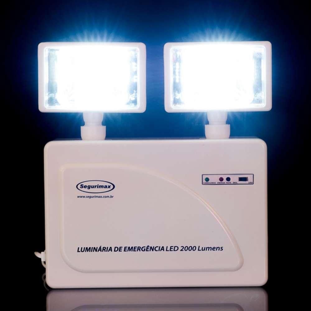 Luminária Emergência Faroletes LED