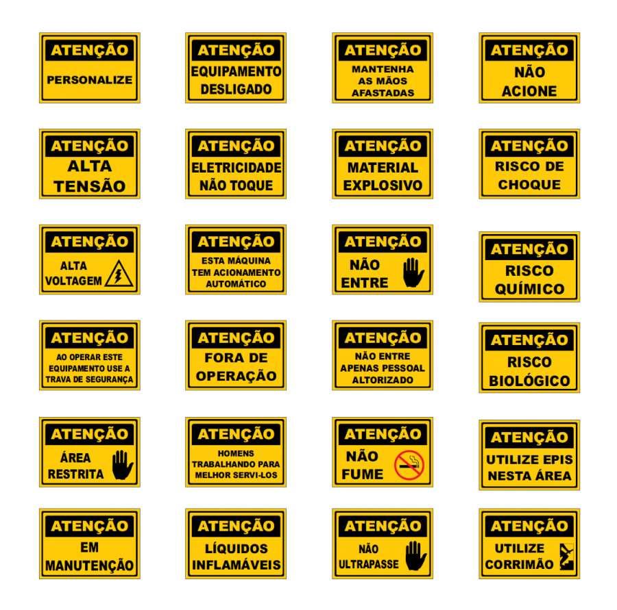 Placa Sinalização Regulamentada Atenção